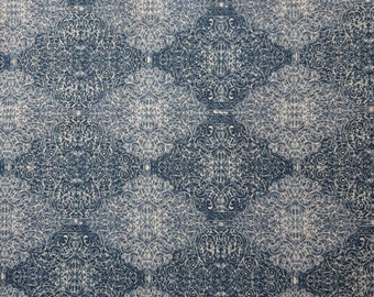 SALE/LIBERTY Of LONDON Tana Lawn Cotton Fabric  'Phillip Clay' Navy Fat Quarter 18 X 26 in