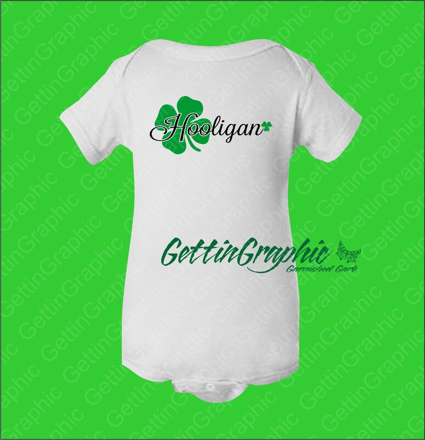 St Patrick s day baby bodysuit Hooligan Irish baby St