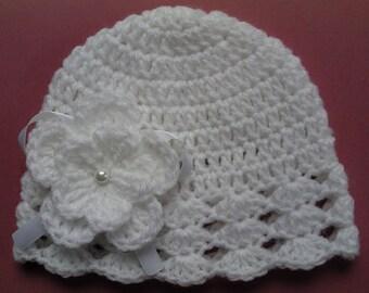 SALE Crochet Baby Kids Toddler Hat Beanie children gift girl flower