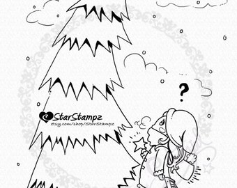 Christmas Star - DIGITAL STAMP Instant Download for Coloring or Crafts