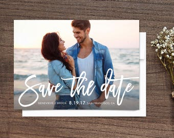 Save the Date Photo Cards Handwritten Script