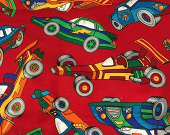 45 wide x 58 Cars VIP Cranston FABRIC NEW red