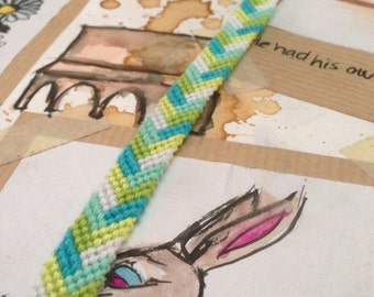 Chevron braid friendship bracelet