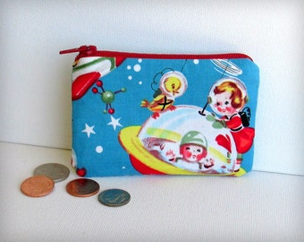 Space Kids - Money Pouch or Coin Purse - Retro Rascals