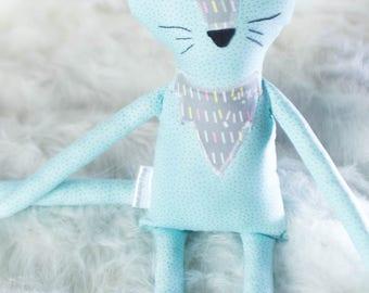 Banjo the Plush Cat // READY TO SHIP // stuffed cat plushie, cat plush animal, stuffed animal cat