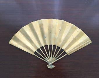 Mid Century Modern Brass Fan