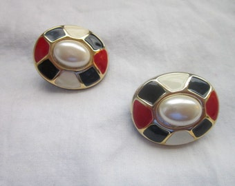 Vintage Retro Wild & Crazy Colorful Clip On Earrings