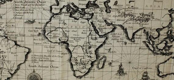 L901 retro cotton linen fabric antique world map 145cm x l901 retro cotton linen fabric antique world map 145cm x 71cm gumiabroncs Images