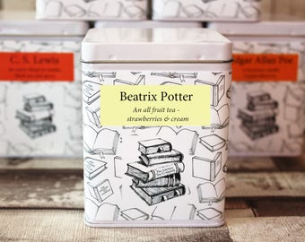 Beatrix Potter Inspired Tea - Literary Tea Collection - Tea Gift - Literary Tea Gift - Bookish Gift - Author Gift- Loose Leaf Tea - Tea
