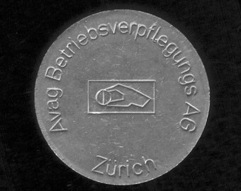 Swiss chip for coin operated food dispensers - Switzerland - jeton coin vintage token - trolley chip