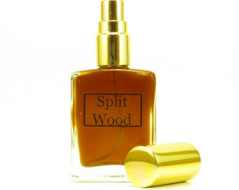 Split Wood Natural Cologne for Men, Wood Essential oil Cologne, Sandalwood Cologne, Cedar Cologne, Botanical Perfume, Organic Perfume, Wood