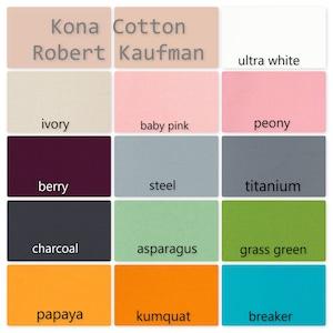 Robert Kaufman Kona Cotton Solid Colors  By the Yard