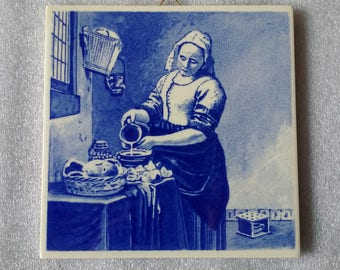 Decorative Tile: The Milkmaid by Joahannes Vermeer