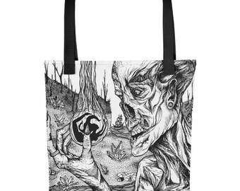 He Searched The World Over All Over Print Tote bag