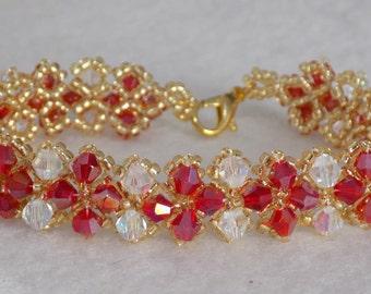 Red & Gold sparkle bracelet