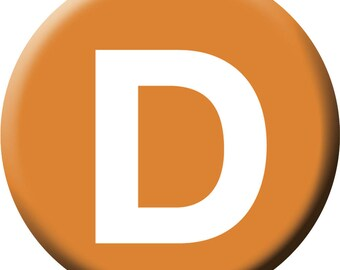 NYC Subway D Line 1 inch Button