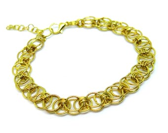 Gold Chainmaille Bracelet