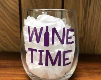 Stemless Wine Glass - Wine Time