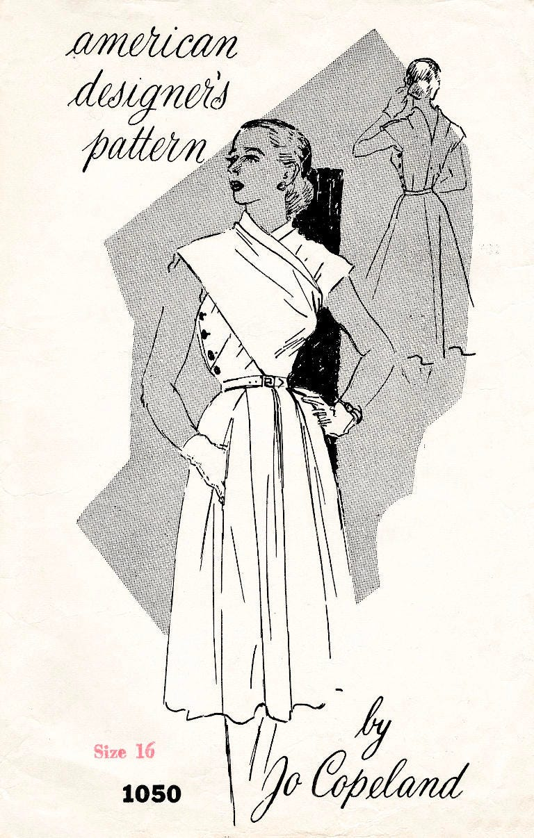 1950er Jahre 50er Jahre Jo Copeland wrap Kleid / / Jahrgang
