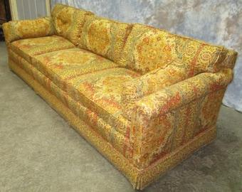 vintage 70s furniture. Retro Fabric Davenport Couch Sofa Vintage 60s 70s Danish Modern Furniture A E