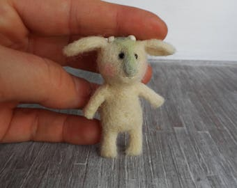 Goatling, needle felted goat, wool animal soft sculpture,Handmade, one-of-a-kind. 100% wool.