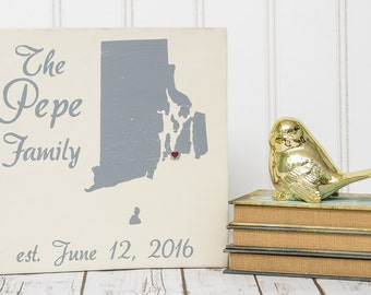 Family Sign - Personalized Family Name Signs - Personalized State Wood Sign -Personalized Sign Wood - Established Sign - Last Name Wood Sign