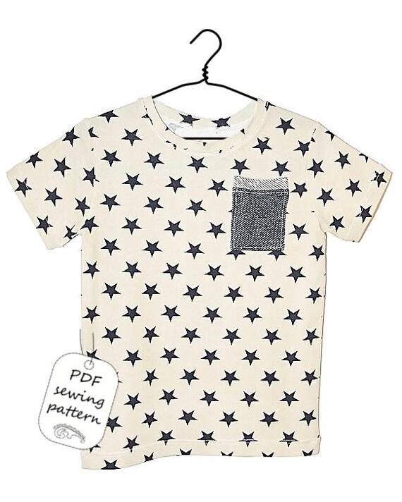 Kids t-shirt pattern pdf, boys t-shirt pattern, kids sewing patterns ...