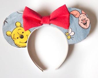 Blue Winnie the Pooh Mouse Ears / Pooh Bear Tigger Piglet Eeyore