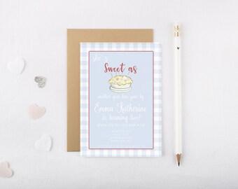 Sweet As Pie Invitation, Children's Birthday Invitation, Digital Invitation, The Proper Peony Inspired Birthday Invite, Printable Invitation
