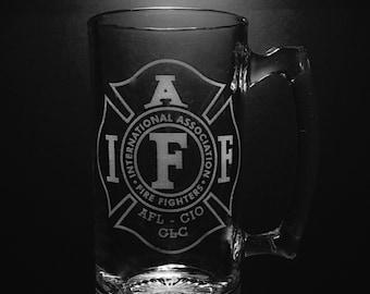 Association internationale des pompiers 25 once chope de bière.
