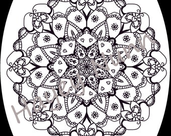 4 coloring pages to print. Mandala style