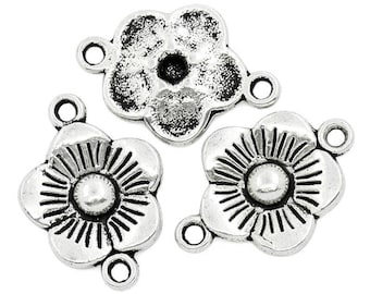 5 connectors flowers CADMIUM-free zinc alloy