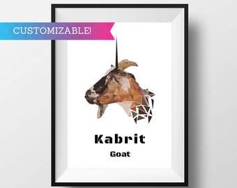Art Print: goat / kabrit Haitian Creole