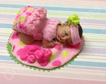 Birthday Cakes For Baby Girl ~ Baby fairy edible cake topper baby shower first birthday cake