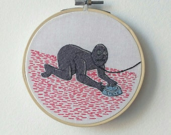 Embroidered picture on the wall - Steve! Mr Pickles mult