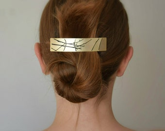Barrette, Hair accessories, Pony tail holder, Hair barrette gold, Hair care, French hair barrette, Hair Jewelry, Hair clip