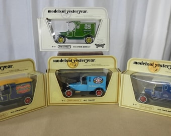 Vintage Matchbox Cars of Yesteryear Group