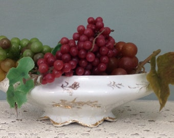 Goodwin Pottery Bowl White Ironstone Bowl Vintage Tureen Footed Bowl Antique French Style Bowl Fruit Bowl Soup Tureen American Pottery Bowl