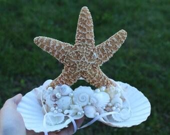 Ring Bearer Seashell Holder/ Beach Themed Wedding/ Destination Wedding