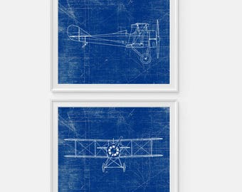 Airplane blueprint etsy airplane art print plane art standard e1 airplane blueprint wall art aviation malvernweather Gallery