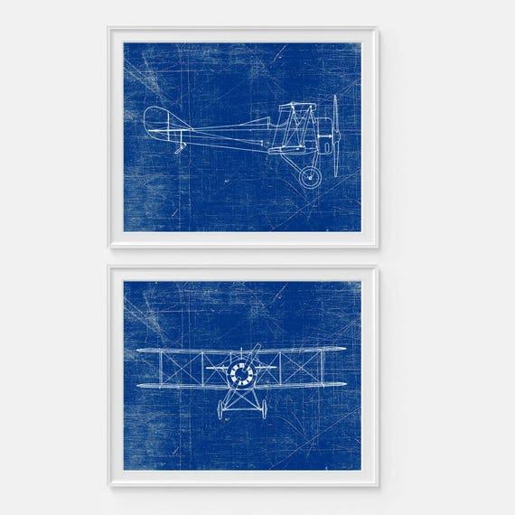 Airplane art print plane art standard e1 airplane blueprint malvernweather Choice Image