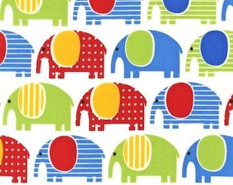 Urban Zoologie Elephants Primary by Ann Kelle for Robert Kaufman, 1/2 yard