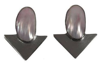 Sterling Silver and Mother Of Pearl Earrings