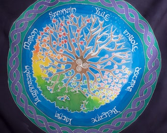 Large Celtic Silk Wheel of the Year Cloth