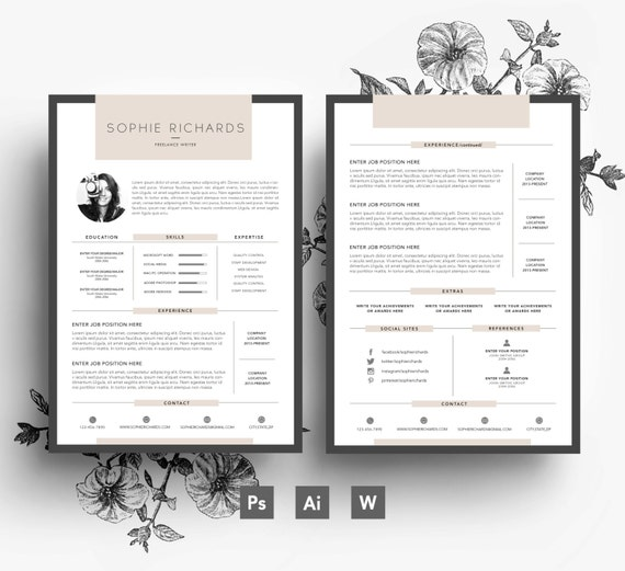Amazing Cover Page Templates Word Psd: Resume Template CV Template Business Card Cover Letter