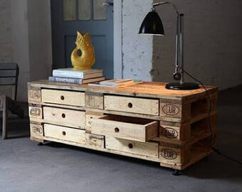 Industrial pallet 6 Dresser drawers