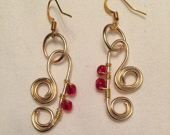 Red Hots Dangle Earrings