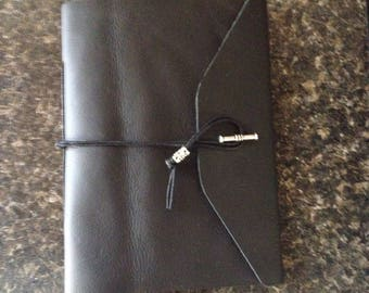 Small Black Leather Journal