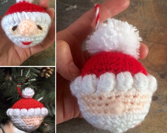 Santa Claus bauble - Hand crocheted