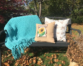 Turquoise Cozy Throw